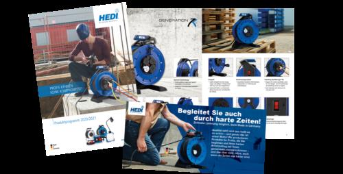 HEDI Kataloge und Flyer